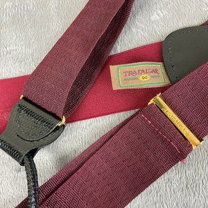 Trafalgar Burgundy Red Suspenders